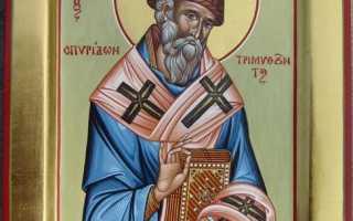 Православные молитвы Спиридону Тримифунтскому о работе и достатке