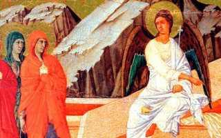 Икона святых Жен-Мироносиц у Гроба Господня