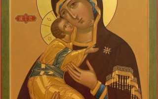 Молитвы перед иконой Пресвятой Богородицы «Владимирская»