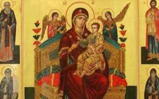 Молитвы пред иконой Божией Матери «Всецарица» при онкологии
