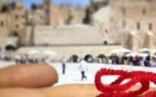 Молитва для завязывания красной нити из Иерусалима и как правильно завязать на запястье
